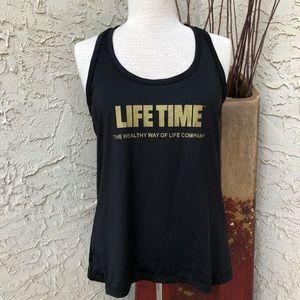 Lifetime fitness Black tank top women's large
